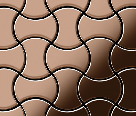 Infinit Titanium Amber Mirror Tiles di Alloy | Mosaici in metallo