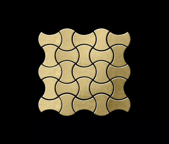 Infinit Titanium Gold Brushed Tiles by Alloy | Metal mosaics