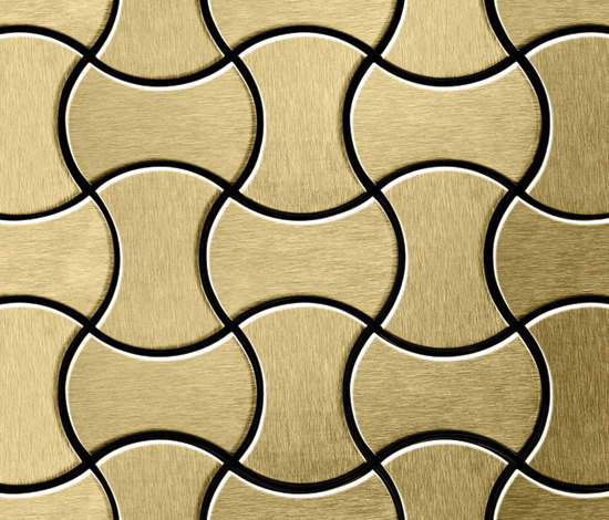 Infinit Titanium Gold Brushed Tiles di Alloy | Mosaici