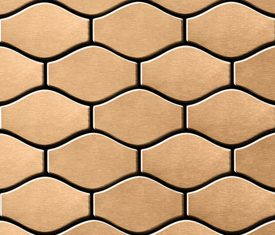 Karma Titanium Amber Brushed Tiles by Alloy | Metal mosaics