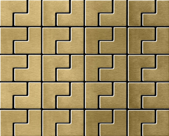 Kink Titanium Gold Brushed Tiles di Alloy | Mosaici
