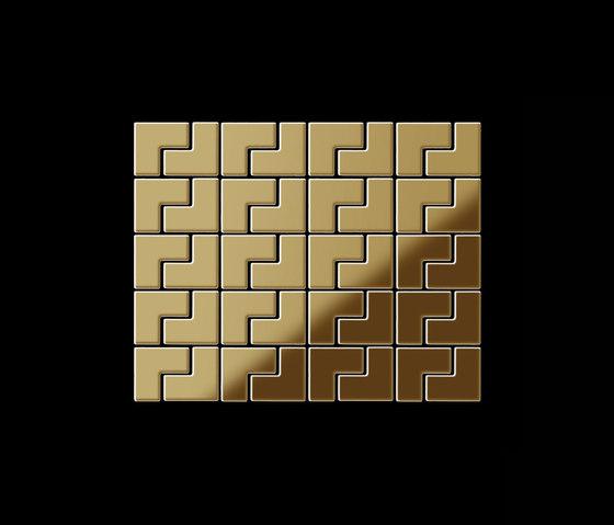 Kink Titanium Gold Mirror Tiles de Alloy | Mosaicos