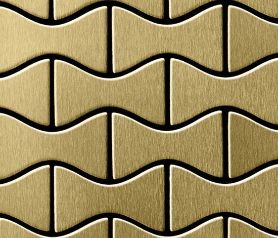 Kismet Titanium Gold Brushed Tiles di Alloy | Mosaici