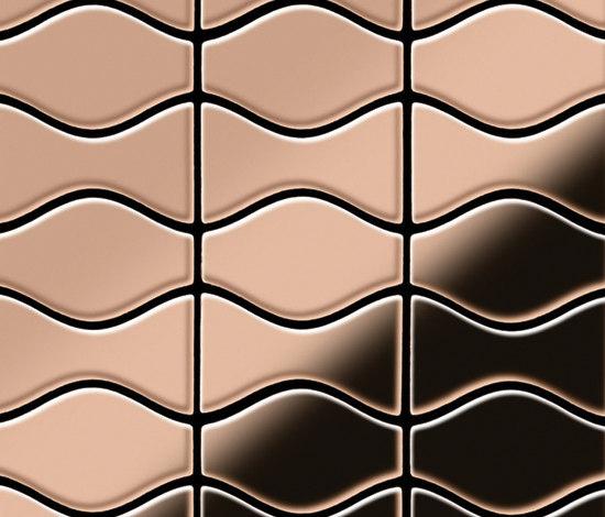 Kismet & Karma Titanium Amber Mirror Tiles de Alloy | Mosaïques