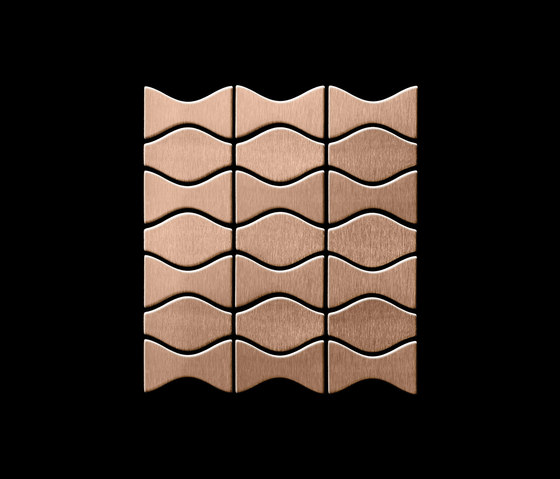 Kismet & Karma Titanium Amber Brushed Tiles de Alloy | Mosaïques