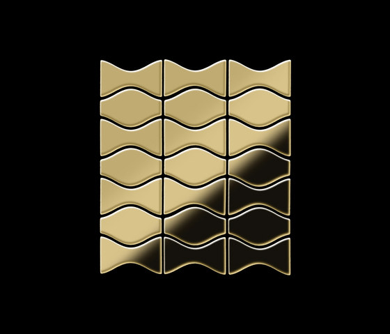 Kismet & Karma Titanium Gold Mirror Tiles di Alloy | Mosaici metallo