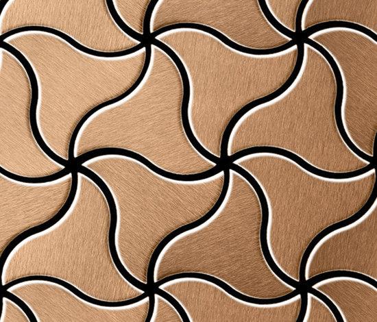 Ninja Titanium Amber Brushed Tiles de Alloy | Mosaicos metálicos