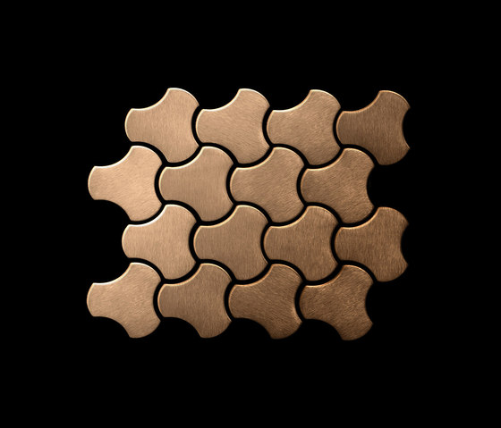 Ubiquity Titanium Amber Brushed Tiles de Alloy | Mosaïques