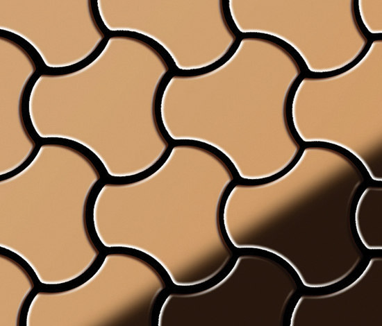 Ubiquity Titanium Amber Mirror Tiles by Alloy | Metal mosaics