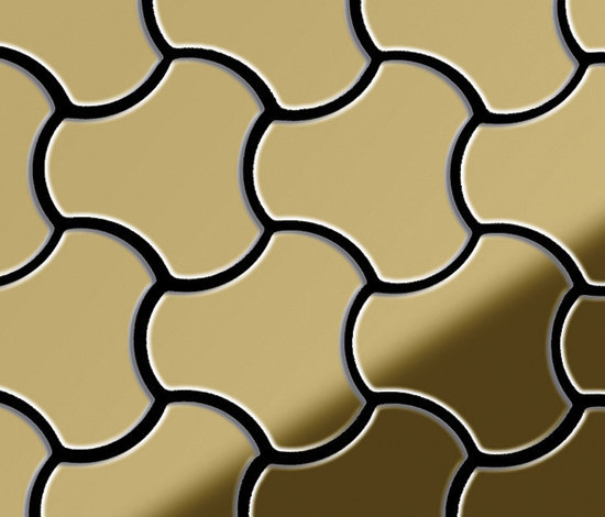Ubiquity Titanium Gold Mirror Tiles by Alloy | Metal mosaics