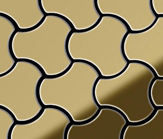 Ubiquity Titanium Gold Mirror Tiles von Alloy | Metall Mosaike