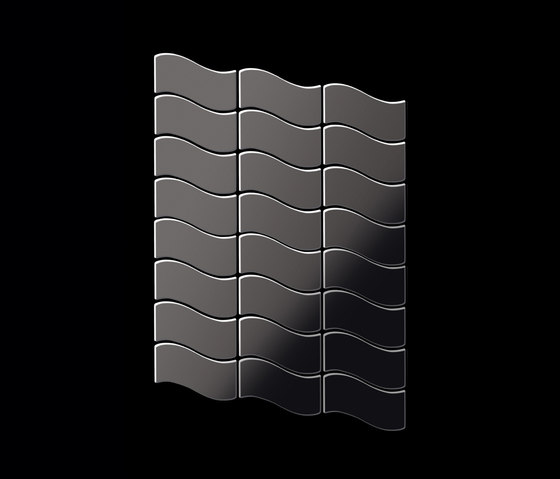 Flux Titanium Smoke Mirror Tiles by Alloy | Metal mosaics