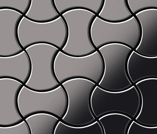 Infinit Titanium Smoke Mirror Tiles by Alloy | Metal mosaics