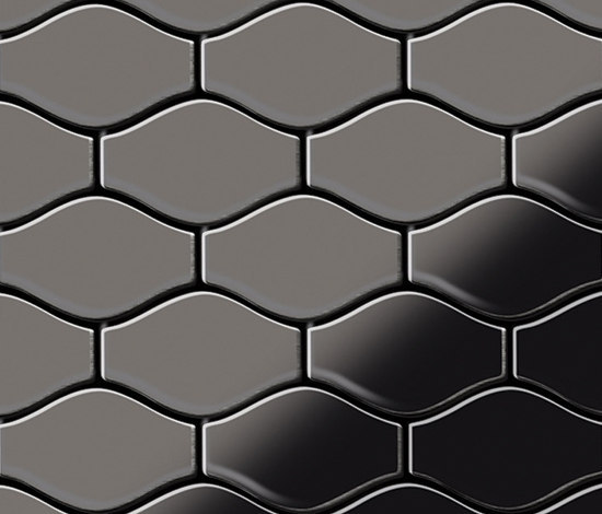 Karma Titanium Smoke Mirror Tiles by Alloy | Metal mosaics