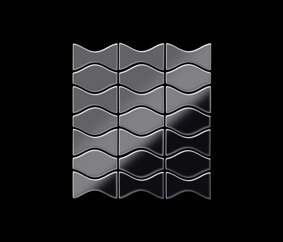 Kismet & Karma Titanium Smoke Mirror Tiles di Alloy | Mosaici