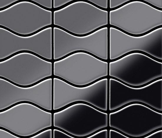 Kismet & Karma Titanium Smoke Mirror Tiles by Alloy | Metal mosaics