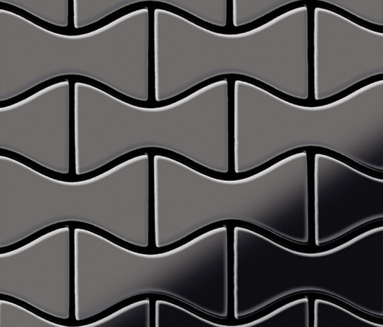 Kismet Titanium Smoke Mirror Tiles by Alloy | Metal mosaics