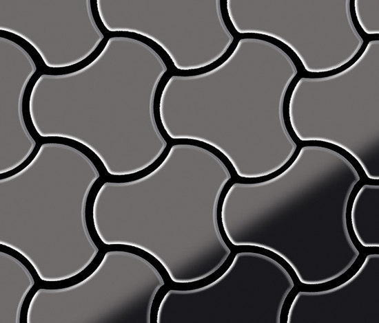 Ubiquity Titanium Smoke Mirror Tiles von Alloy | Metallmosaike