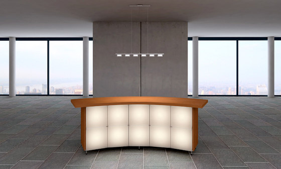 Quadro by luce² | Reception desks