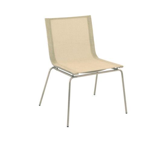 Trama Sling Chair di Calma | Sedie da giardino