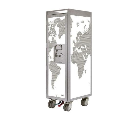 bordbar silver edition worldmap de bordbar | Chariots / Tables de service