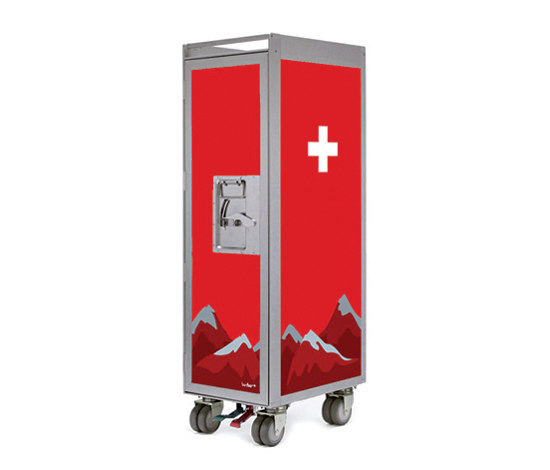bordbar silver edition swiss cross de bordbar | Chariots / Tables de service