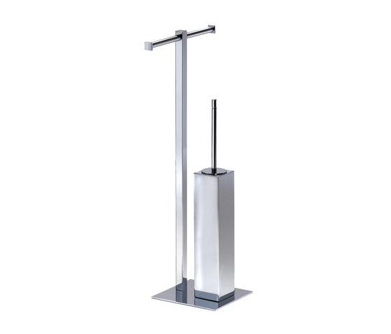 Metric Free Standing Toilet Brush/Paper Holder by Pomd'Or | Toilet-stands