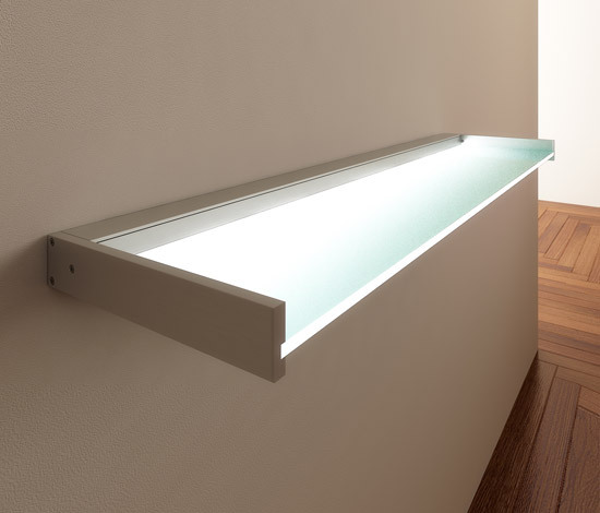 Lighting system 6 Glass shelf de GERA | Étagères / Consoles