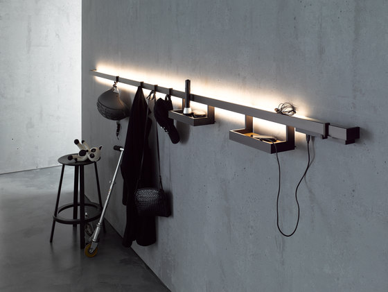 Light rail with glass shelf | GERA light system 6 by GERA | General lighting