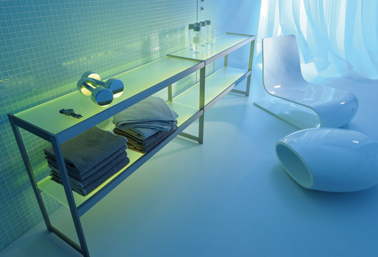 Lighting system 6 Light shelf by GERA | Shelving