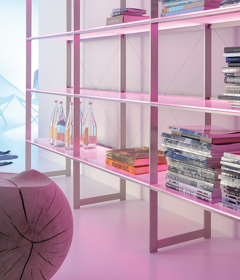 Lighting system 6 Light shelf by GERA | Illuminated shelving