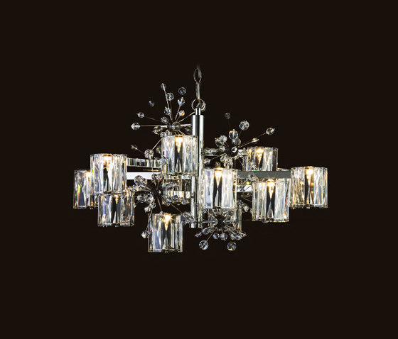 Donhauser chandelier by LOBMEYR | Ceiling suspended chandeliers