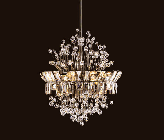 Embassy Chandelier by LOBMEYR | Ceiling suspended chandeliers
