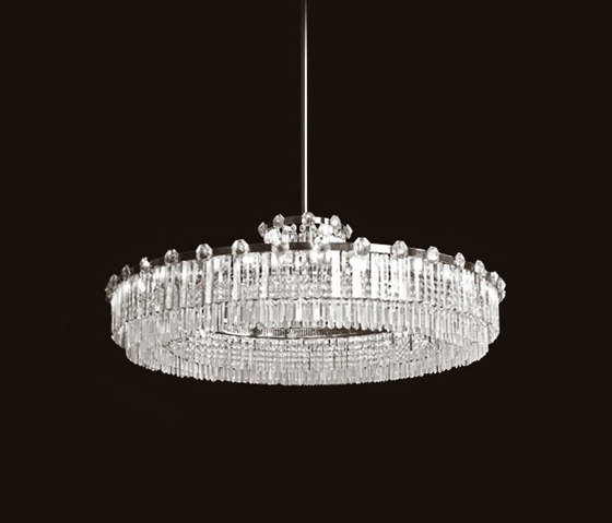 Prückl Chandelier by LOBMEYR | Ceiling suspended chandeliers
