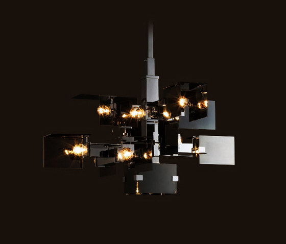 David Collins Chandelier by LOBMEYR | Ceiling suspended chandeliers