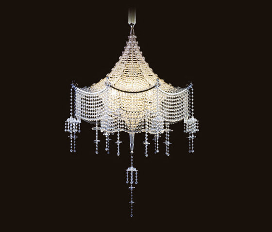 Pagoda Chandelier by LOBMEYR | Ceiling suspended chandeliers