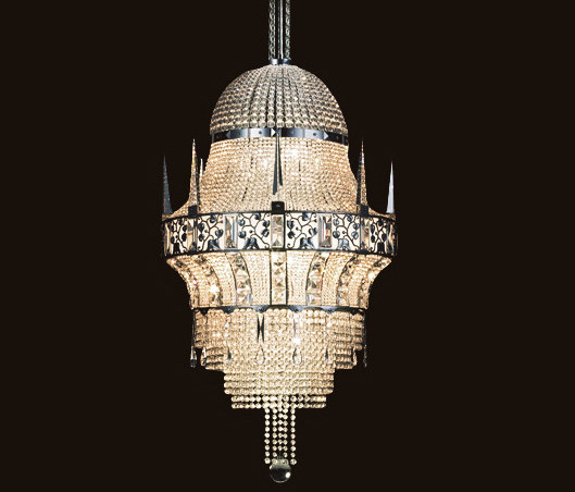 Cologne Chandelier by LOBMEYR | Ceiling suspended chandeliers