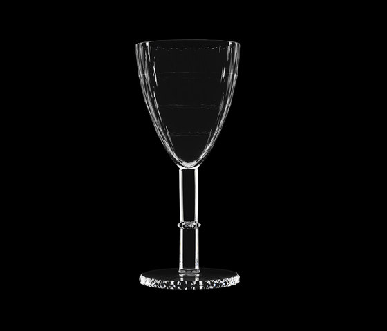 Fleckerlschliff Pokal, cut with rich facettes de LOBMEYR | Wine glasses