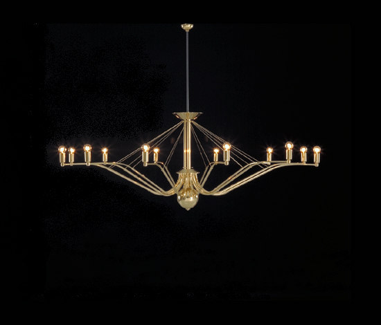 GREN chandelier by Okholm Lighting | Ceiling suspended chandeliers