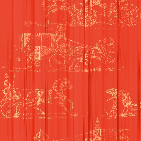 Foulards | Belle Chasse VP 685 04 by Elitis | Wall coverings / wallpapers