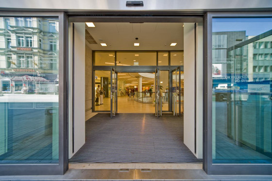 SST Sliding hinged safety doors by dormakaba | Entrance doors