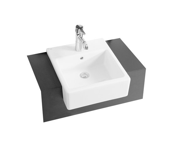 Options Nuovella, Semi recessed basin de VitrA Bad | Lavabos