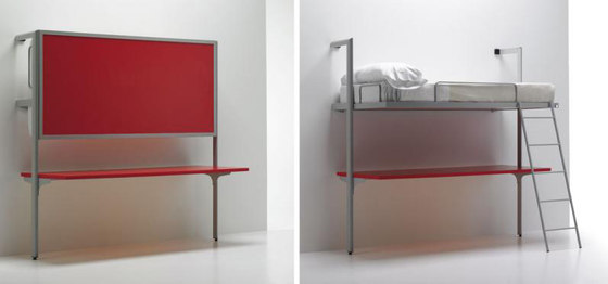 La Literal Studio Folding Bunkbed by Sellex | Wall beds