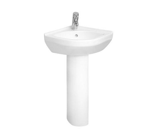 S50 Corner cloakroom basin, 40 cm by VitrA Bad | Wash basins