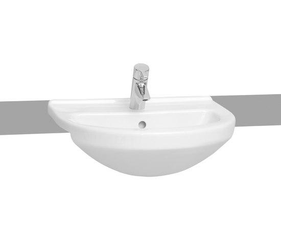 S50 Semi recessed basin, 55 cm by VitrA Bad   Wash basins