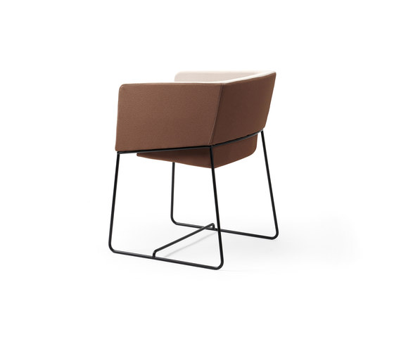 Tonic armchair metal by Rossin | Visitors chairs / Side chairs