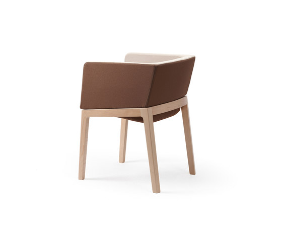 Tonic armchair wood de Rossin | Chaises