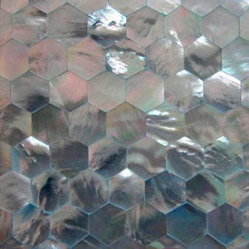 Shell Tile Panel No.3 by B-Matrix Group | Mother of pearl tiles