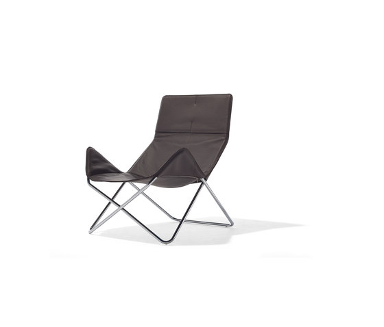 In-Out lounge chair leather by Richard Lampert | Lounge chairs