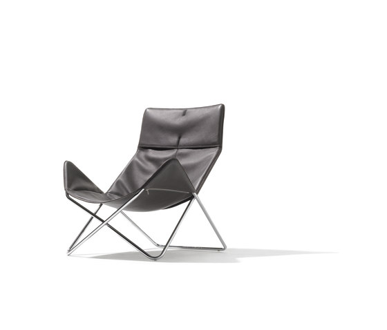 In-Out lounge chair leather by Lampert | Lounge chairs